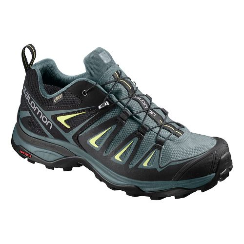 Womens Salomon X Ultra 3 GTX Hiking Shoe - Sunny Lime 5.5