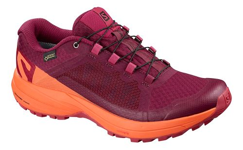 Womens Salomon XA Elevate GTX Trail Running Shoe - Beet Red/Coral 7