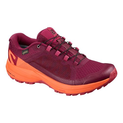 Womens Salomon XA Elevate GTX Trail Running Shoe - Beet Red/Coral 7