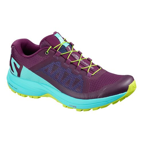 Womens Salomon XA Elevate Trail Running Shoe - Purple Blue 7.5