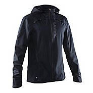 Mens Salming Abisko Rain Jackets - Black L