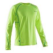 Mens Salming Running Tee Long Sleeve Technical Tops - Yellow M