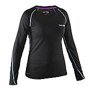 Womens Salming Running Tee Long Sleeve Technical Tops - Black L