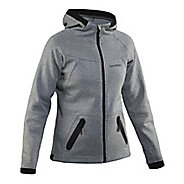 Womens Salming Run Half-Zips & Hoodies Technical Tops - Stone S