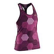 Womens Salming T-Back Sleeveless & Tank Technical Tops - Pink/Black S