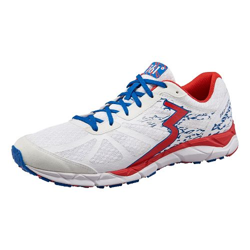 Mens 361 Degrees Feisu Running Shoe - White/Red 9