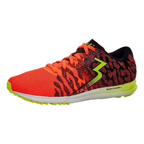 Womens 361 Degrees Chaser 2 Running Shoe - Hazard/Black 9.5