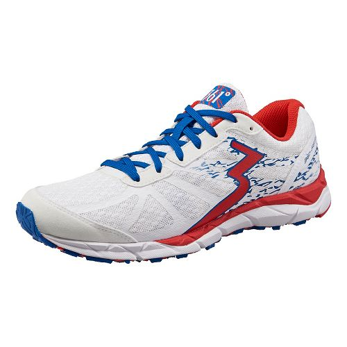 Womens 361 Degrees Feisu Running Shoe - White/Risk Red 7