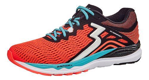 Womens 361 Degrees Sensation 3 Running Shoe - Hazard/Black 9