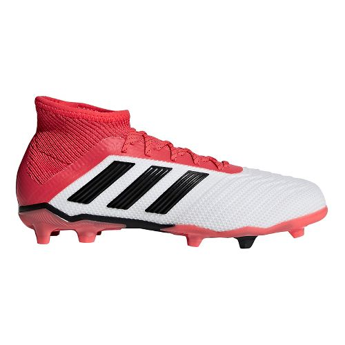 Kids adidas Predator 18.1 Firm Ground Cleated Shoe - White/Black 6Y
