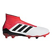 Kids adidas Predator 18+ Firm Ground Cleated Shoe - White/Black 6Y