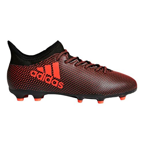 Kids adidas X 17.3 Firm Ground Cleated Shoe - Black/Infrared 10.5C