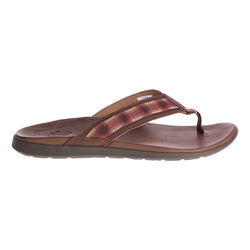 Mens Chaco Marshall Sandals Shoe - Tartan Rust 11