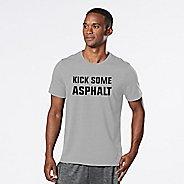 Mens R-Gear Kick Some Asphalt Graphic Tee Short Sleeve Technical Tops - Heather Chrome S