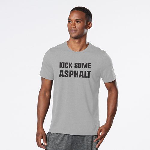 Mens R-Gear Kick Some Asphalt Graphic Tee Short Sleeve Technical Tops - Heather Chrome XL