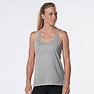 Womens R-Gear Gym & Tonic Graphic Sleeveless & Tank Technical Tops - Heather Chrome S