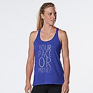 Womens R-Gear Your Pace or Mine Graphic Sleeveless & Tank Technical Tops - Heather Sapphire M