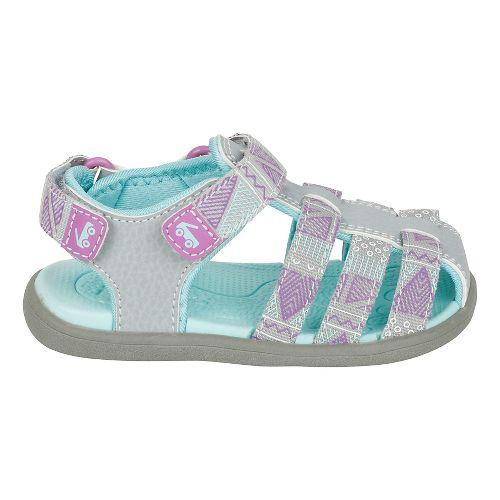 Girls See Kai Run Paley Webbing Sandals Shoe - Grey 9C