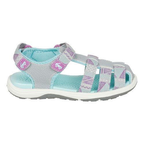 Girls See Kai Run Paley Webbing Sandals Shoe - Grey 1Y
