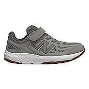 Kids New Balance 519v1 Velcro Running Shoe - Grey/Castlerock 5Y