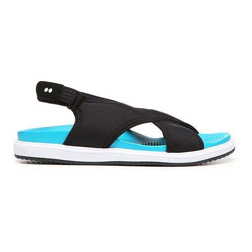 Womens Ryka Leisure Sandals Shoe - Black/Blue 10.5