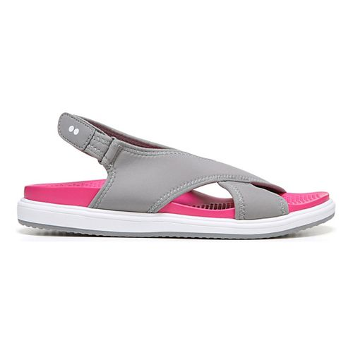 Womens Ryka Leisure Sandals Shoe - Grey/Pink 8.5