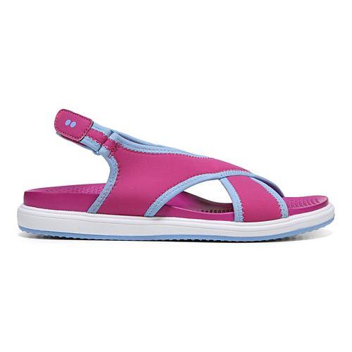 Womens Ryka Leisure Sandals Shoe - Pink/Blue 9
