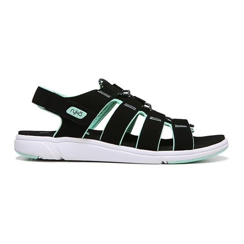 Womens Ryka Misty Sandals Shoe - Black/Mint 7.5