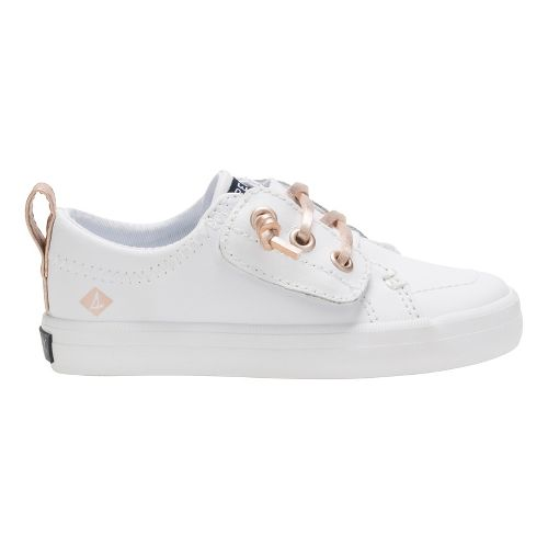 Girls Sperry Crest Vibe Jr Casual Shoe - White 7.5C