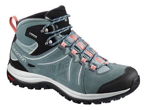 Womens Salomon Ellipse 2 Mid LTR GTX Hiking Shoe - Coral Almond 9