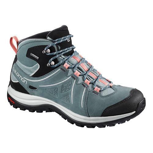Womens Salomon Ellipse 2 Mid LTR GTX Hiking Shoe - Coral Almond 9