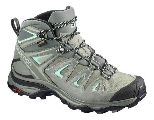 Womens Salomon X Ultra 3 MID GTX Hiking Shoe - Shadow Grey 7.5
