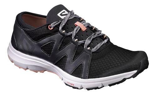 Womens Salomon Crossamphibian Swift Trail Running Shoe - Black Phantom 7.5