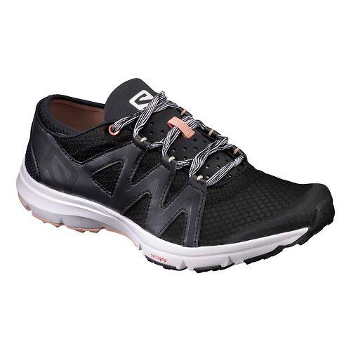 Womens Salomon Crossamphibian Swift Trail Running Shoe - Black Phantom 10