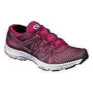 Womens Salomon Crossamphibian Swift Trail Running Shoe - Fig/White Sangria 7