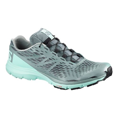 Womens Salomon XA Amphib Trail Running Shoe - Canal Blue 5.5