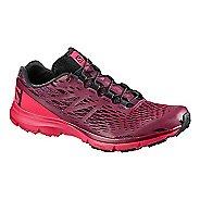 Womens Salomon XA Amphib Trail Running Shoe - Purple/Red/Pink 9