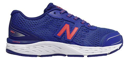 Kids New Balance 680v5 Lace Up Running Shoe - Pacific/Dynamite 12C