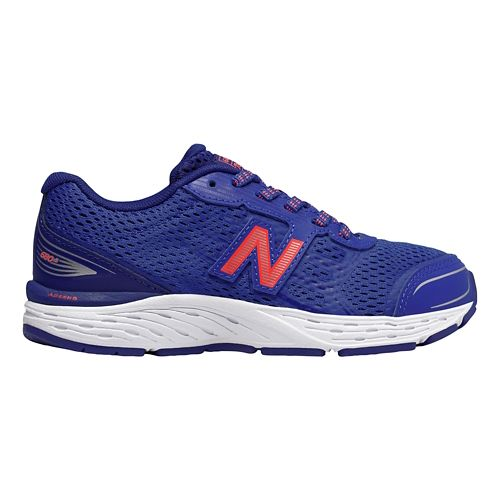 Kids New Balance 680v5 Lace Up Running Shoe - Pacific/Dynamite 11.5C