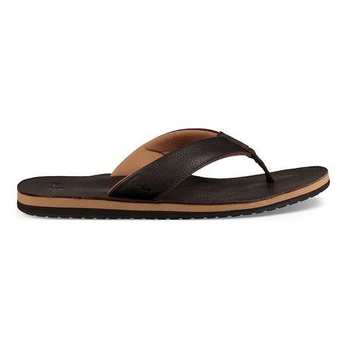Mens Sanuk John Doe 2 Sandals Shoe - Dark Brown 12
