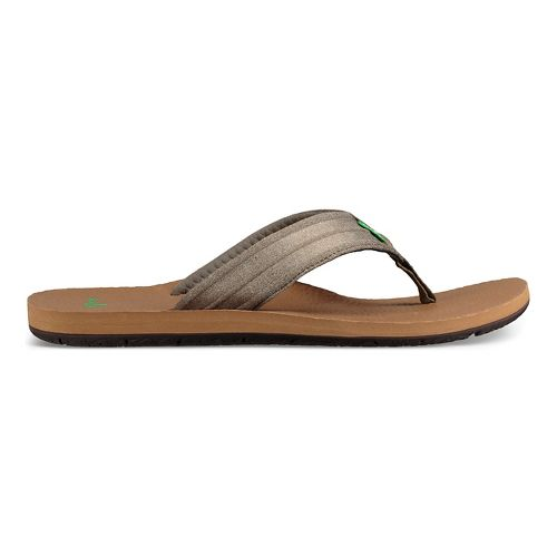 Mens Sanuk Land Shark Sandals Shoe - Dark Olive 14