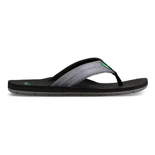 Mens Sanuk Land Shark Sandals Shoe - Charcoal/Grey 11
