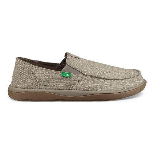 Mens Sanuk Vagabond Tripper Grain Slub Casual Shoe - Grey 14
