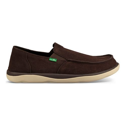 Mens Sanuk Vagabond Tripper Suede Casual Shoe - Dark Brown 9