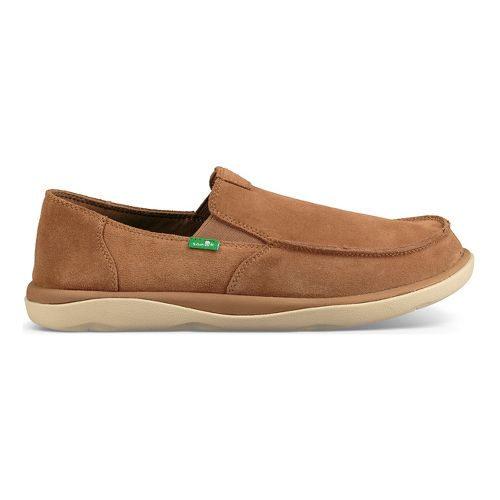Mens Sanuk Vagabond Tripper Suede Casual Shoe - Light Brown 13