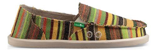 Womens Sanuk Donna Kauai Blanket Casual Shoe - Green Kauai Blanket 7
