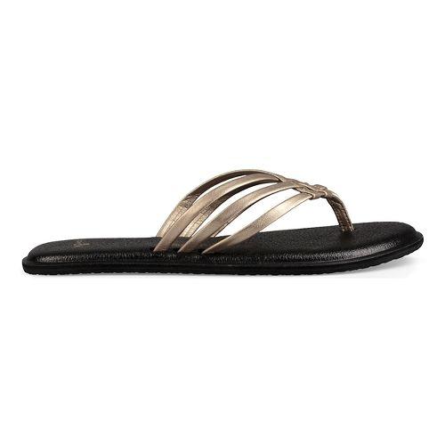 Womens Sanuk Yoga Salty Metallic Sandals Shoe - Champagne 8