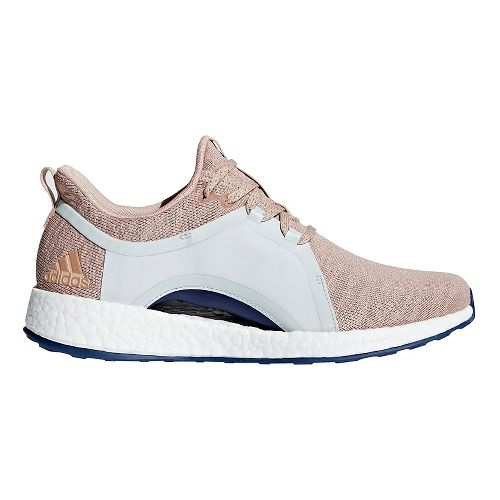 Womens adidas Pureboost X Running Shoe - Ash Pearl/ Blue 10