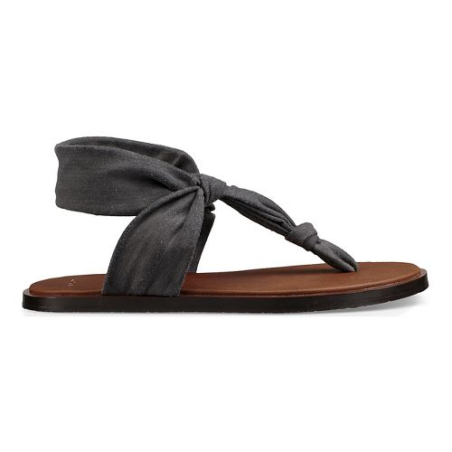Womens Sanuk Yoga Sling Ella LX Sandals Shoe - Charcoal 8