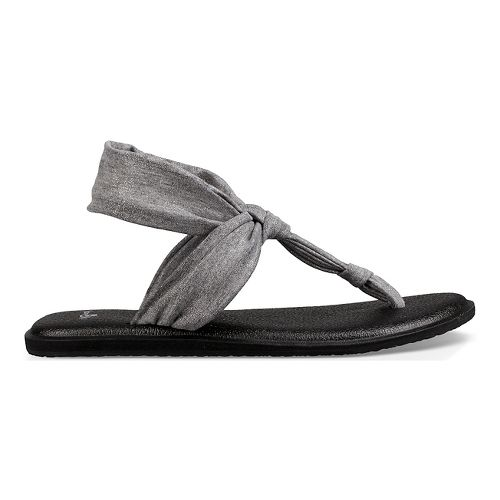 Womens Sanuk Yoga Sling Ella Metallic Sandals Shoe - Metallic Silver 7